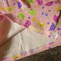 Стильная водолазка - гольф розовая с котиками Five Stars KD0358-104p, фото 2