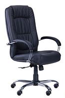 Зручне офісне комп'ютерне крісло на колесиках Марсель Хром механізм ANYFIX Неаполь N-20