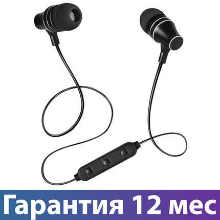Блютуз наушники Sven E-255B Black, вакуумные, беспроводные наушники bluetooth гарнитура для телефона, фото 2