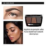 Набір для ідеального макіяжу: триколірні тіні для брів + 2 олівця, тон 1, фото 2