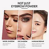 Набір для ідеального макіяжу: триколірні тіні для брів + 2 олівця, тон 1, фото 4