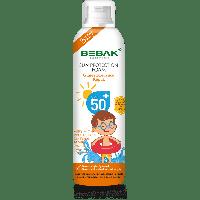 Солнцезащитная пенка для детей с SPF 50+ Bebak, 150 мл