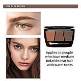 Набір для ідеального макіяжу: тіні для брів + 2 олівця, 2 тон, фото 2