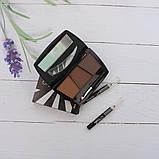 Набір для ідеального макіяжу: тіні для брів + 2 олівця, 2 тон, фото 5