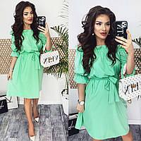 Жіноча сукня з воланом різні кольори, фото 1