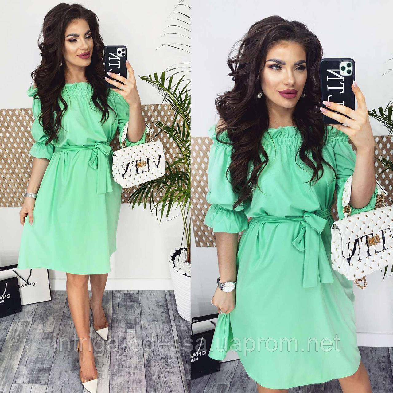 Жіноча сукня з воланом різні кольори