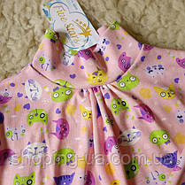 Стильная водолазка - гольф розовая с котиками Five Stars KD0358-128p, фото 3