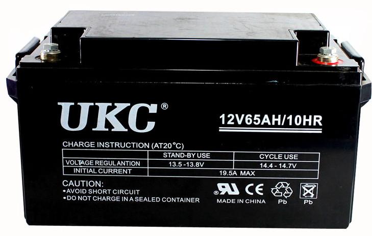 Универсальный гелевый аккумулятор GEL UKC 6-CNF-65 12V 65Ah (Аккумуляторная батарея 12В 65Ач)