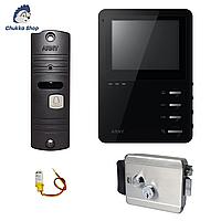 Комплект видеодомофона с замком Arny AVD 410 + AVP 05 Black