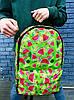 """Принтованный рюкзак тропик """"Green"""", фото 3"""