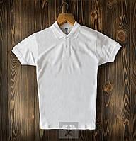 Мужская белая футболка поло / купить рубашку поло