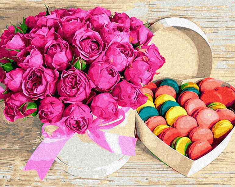 """Картина по номерам """"Цветы и сладости"""" Rainbow Art"""