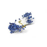 Тычинки Синие на нитке 3 мм 25 шт/уп