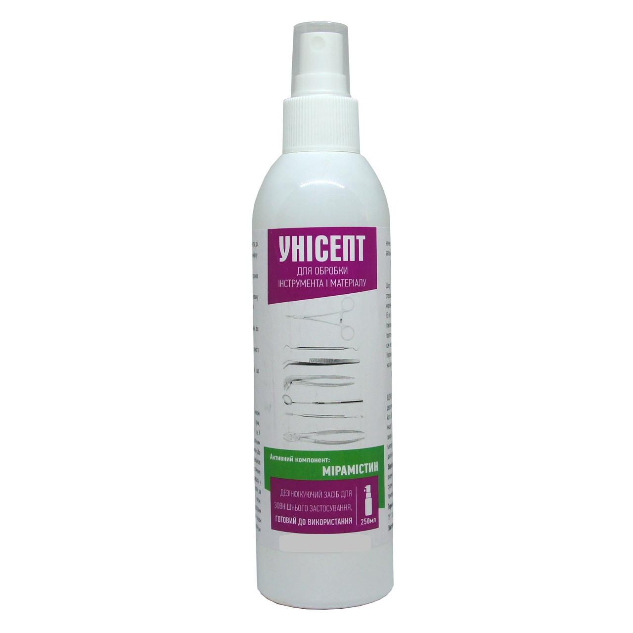 Антисептик для рук и кожи Унисепт с пульверизатором 250 мл (unisept250)