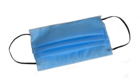Маска для лица защитная тканевая MHZ трехслойная Голубая (iz00634)