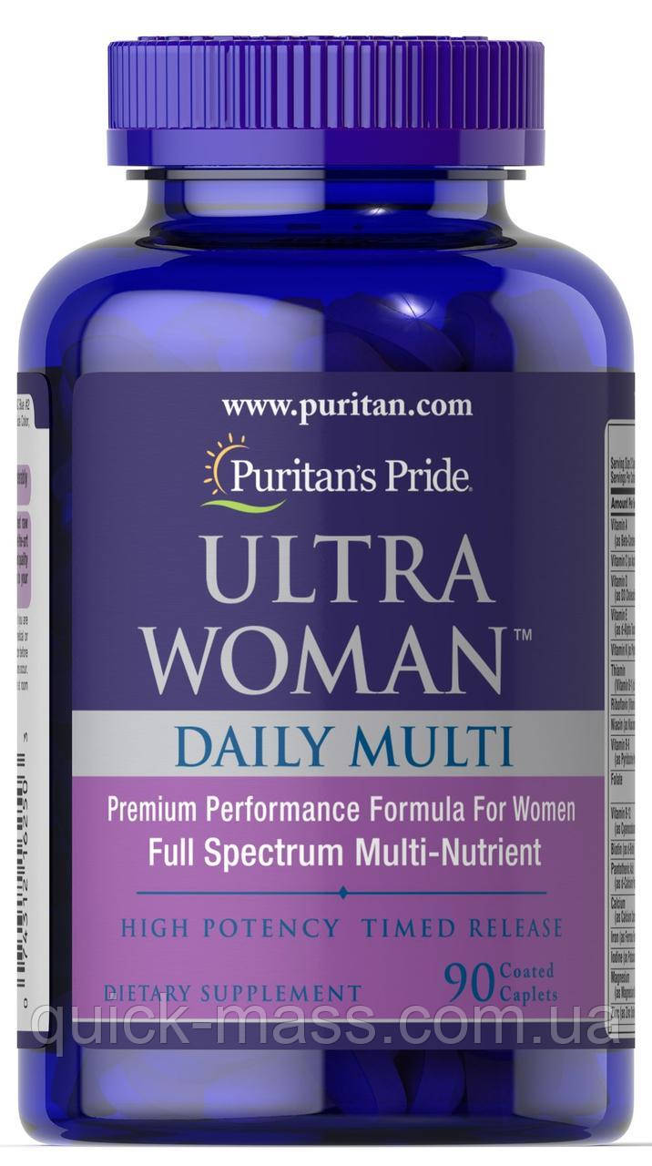 Витамины Puritan's Pride Ultra Woman Daily Multi Timed Release 90 таблеток