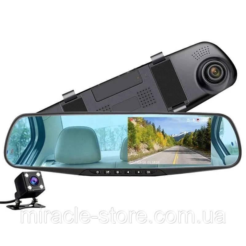 Дзеркало відеореєстратор з камерою заднього виду (2 камери) FHD