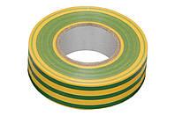Лента изоляционная Apro 10 м x 17 x 0.14 мм Желто-зеленая  000019947, КОД: 1166069