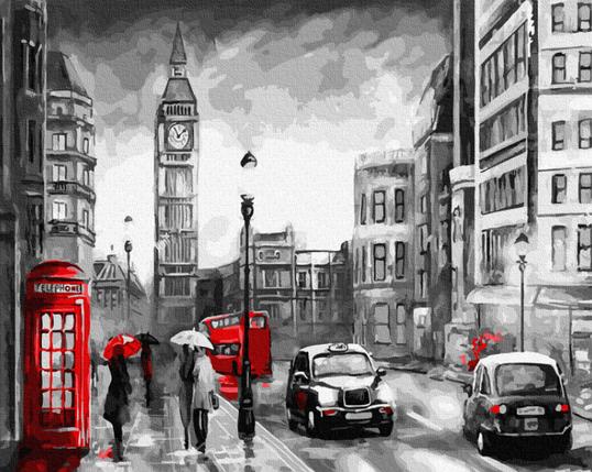 """Картина по номерам """"Дождливый Лондон"""" Rainbow Art, фото 2"""