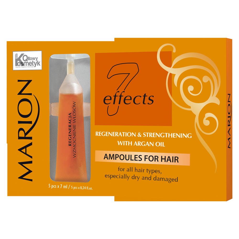 Ампулы для ослабленных секущихся волос Marion 7 effects с аргановым маслом, 5х7 мл