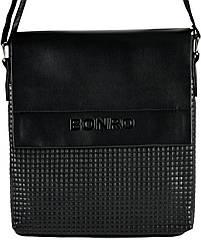 Сумка чоловіча Bonro через плечі чорна Model 3 (14000002)