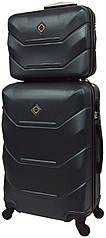 Комплект валіза і кейс Bonro 2019 маленький смарагдовий (10501009)