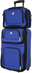 Комплект валіза і сумка Bonro Best маленький синій (10080502)