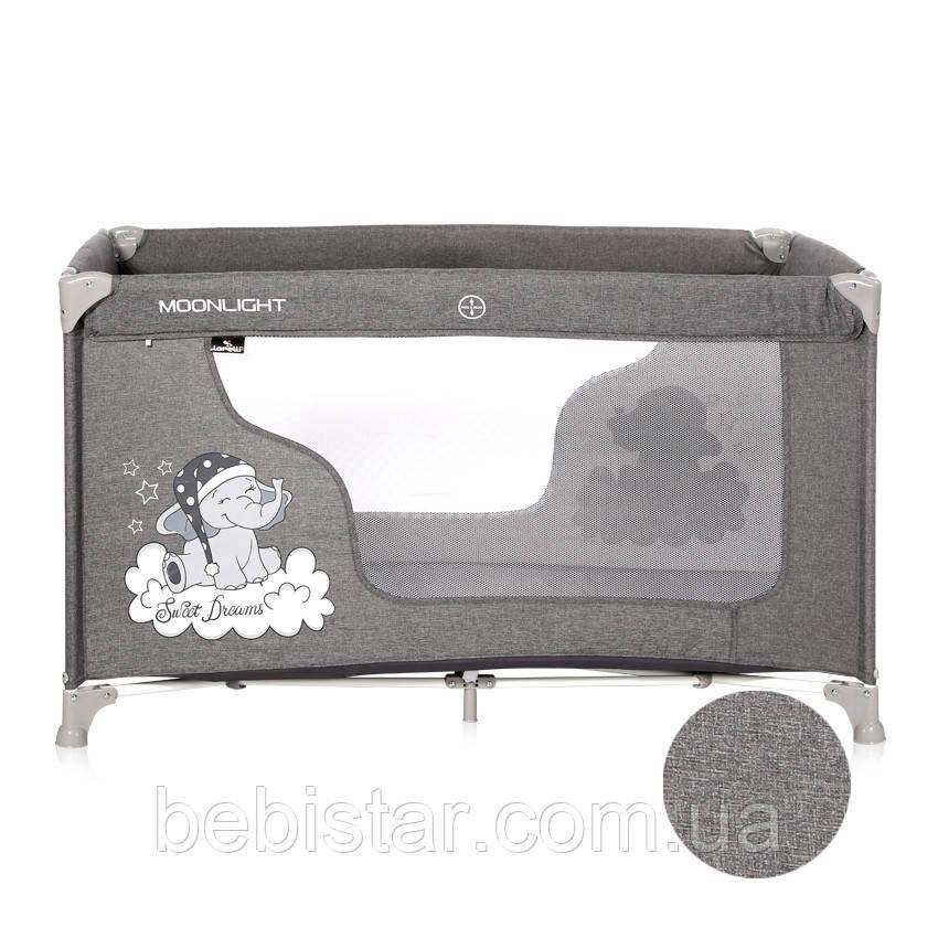 Кровать-манеж светло-серый Moonlight 1L Grey Luxe с рождения до 3-х лет