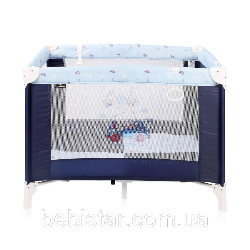 Детский манеж Lorelli Play Station Синий для детей с рождения