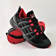 Кроссовки мужские черные в стиле Armani AE7 (армани) из текстиля. Кросівки чоловічі чорні