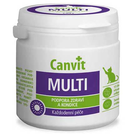 Витаминная добавка Canvit Multi for Cats для улучшения физической формы у котов, 100 г, фото 2