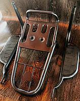 Багажник Delta/Alfa чёрный + подножки для пассажира Qusar №1
