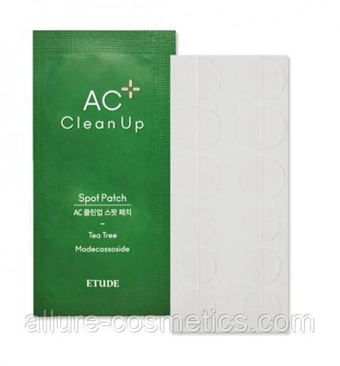 Патчи от акне противовоспалительные Etude House AC Clean Up Spot Patch 12шт