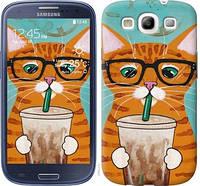 Чехол EndorPhone на Samsung Galaxy S3 i9300 Зеленоглазый кот в очках 4054m-11, КОД: 929004