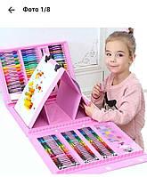 Детский набор для творчества и рисования Super Mega Art Set 208 шт Розовый
