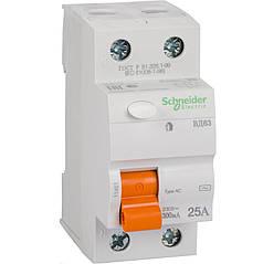 Дифференциальный выключатель (УЗО) Schneider Electric Домовой ВД63, 2P 25А 300мА,  11451