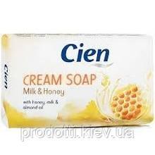 Твердий крем-мило Cien Milk & Honey Cream Soap ,150 гр.