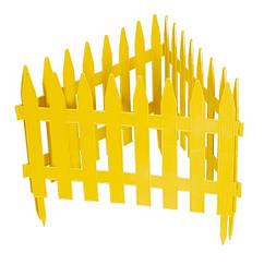 """Забор декоративный """"Рейка"""", 28х300 см, желтый, Россия Palisad"""