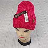 М 94052. Шапка с отворотом женская, подростковая, разние цвета, размер универсальный, фото 3