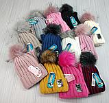 М 94063. Комплект зимовий для дівчинки шапка і баф , різні кольори (3-12 років), фото 7