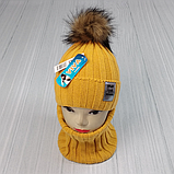 М 94063. Комплект зимовий для дівчинки шапка і баф , різні кольори (3-12 років), фото 3