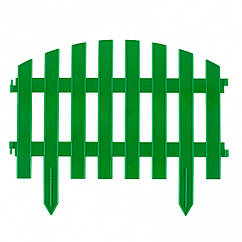 "Забор декоративный ""Винтаж"", 28х300 см, зеленый, Россия Palisad"