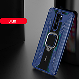 KEYSION защитный чехол Xiaomi Redmi Note 8 с кольцом с прозрачной вставкой Цвет Тёмно-синий, фото 2