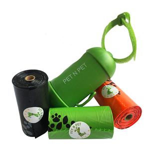 Набор гигиенических пакетов для собак + брелок-держатель 45 шт (3 рулона)