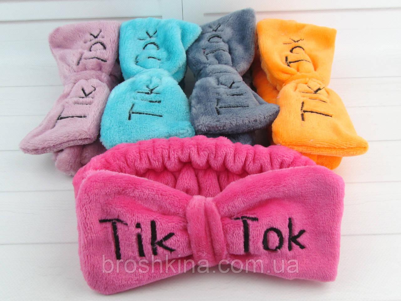 Повязки для умывания махровые Тik Tok 12 шт/уп. без выбора цвета