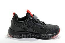 Детские осенние кроссовки на липучке Baas, Black (Защита от воды), фото 2