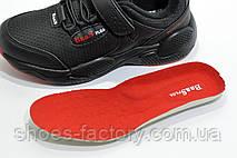 Детские осенние кроссовки на липучке Baas, Black (Защита от воды), фото 3