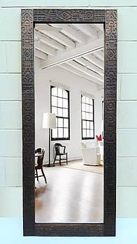 Зеркало напольное этно Africa 170х70х4см. Натуральное дерево.