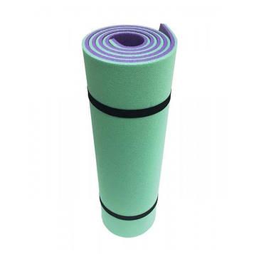 Каремат (коврик) туристический Champion 1800х600х12  зелено-фиолетовый