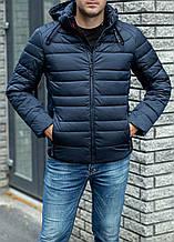 Теплая мужская куртка Black Vinyl C20-1303-1